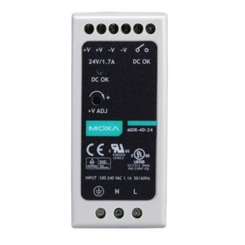 Moxa MDR-40-24 DIN-rail 24 VDC power supply