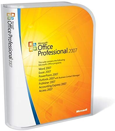 Microsoft Office Professional 2007 Win32 English 269-10584