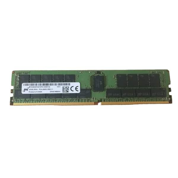 Micron 32GB DDR4-2666MHz ECC Registered CL19 288-Pin DIMM 1.2V Dual Rank x4 Memory | MTA36ASF4G72PZ-2G6D1QI